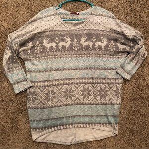 Winter themed dolman tunic
